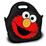 Lunch Bag, Elmo's World Running Reusable Lunch Box Food Container Organizer Handbags Tote with Zipper for Men Women Kids