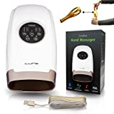 Lunix Cordless Electric Hand Massager | 6 LEVELS Pressure Point Therapy Massager for Arthritis, Pain Relief, Carpal Tunnel & Finger Numbness | Shiatsu Massage Machine w/Compression & Heat | Great GlFT
