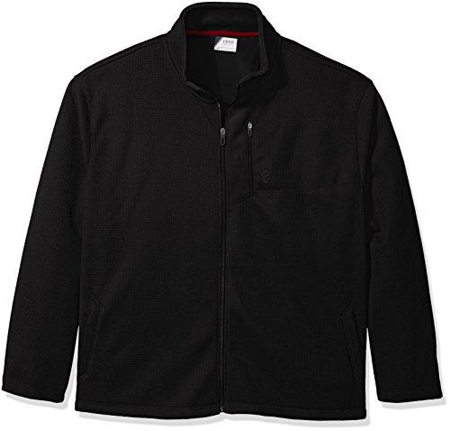 IZOD Men's Big and Tall Advantage Performance Full Zip Fleece Jacket, deep Black, 3X-Large