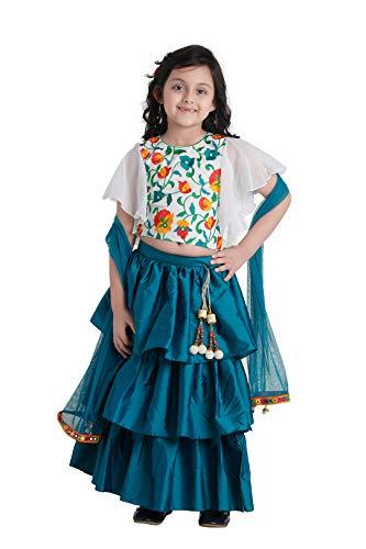 ADIVA Girl's Satin Blend Readymade Lehenga Choli