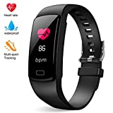 Deword Fitness Tracker Color Screen Fitness Tracker with Heart Rate Monitor, IP68 Waterproof Tracker with Step Counter, Calorie Counter, Pedometer Watch for Kids Women and Men