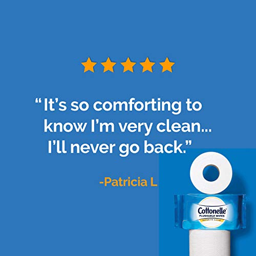 Cottonelle FreshCare Flushable Wipes for Adults, Wet Wipes, Alcohol Free, 336 Wet Wipes per Pack (Eight 42-Count Resealable Soft Packs) deal 50% off 41auO1YCYvL