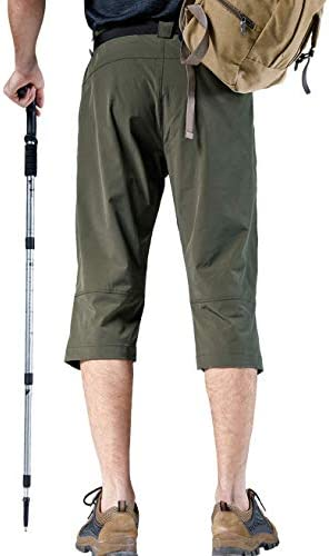 Vcansion Men's Outdoor Quick Dry Hiking Cargo Capri Shorts Summer 3/4 Pants 4