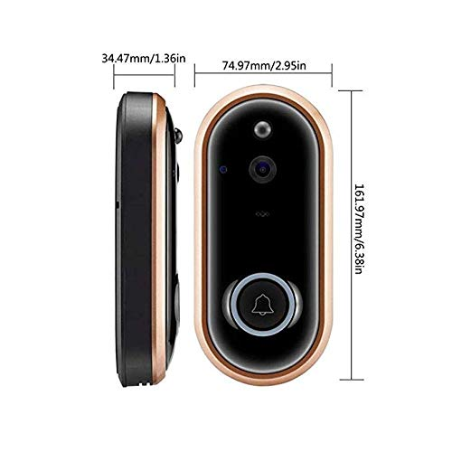 WiFi-Smart-Video-Doorbell-Camera-Door-Bell-1080P-HD-Wireless-Home-Security-Doorbell-Camera-with-16GB-Storage-Card-2-Rechargeable-Battery-for-iOS-Android-Google-M6-1080P