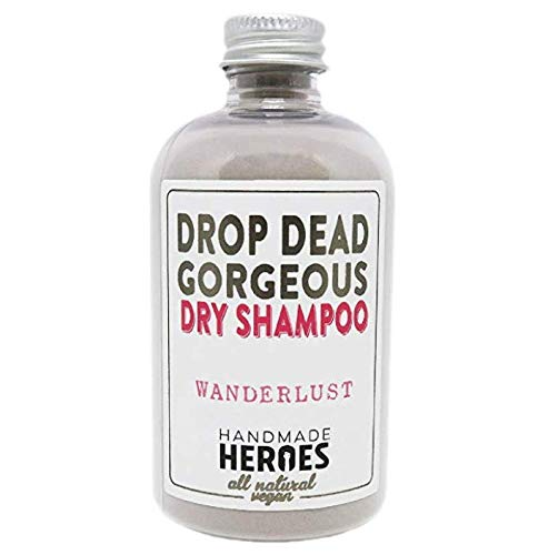 All Natural & Vegan Dry Shampoo – For Medium to Dark Color Hair – Volumnizing Drop Dead Gorgeous Hair Powder – Handmade Heroes