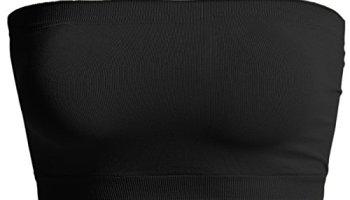 67547fc3bd TheMogan Seamless Bandeau Bra Top Strapless Nylon Spandex Stretch Bralette