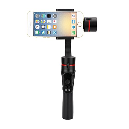 Nov8tech 3-Axis Handheld Gimbal Stabilizer for All Smartphones, i.e. iPhone X 8 7 Plus 6 Plus, Samsung S9 S8 S7 S6, Featuring APP Control, Vertical Shooting, Face Tracking