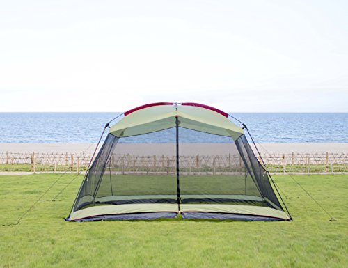 RORAIMA Bugs Proof Roomy Screen House 13'x9'x6.9', Instant Canopy Shelter Screen Tent,Easy Installation Within Mins and Good for Family Picnic Suitable for 5-8 People Blue (Green)