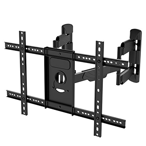 Corner TV Wall Mount Bracket Tilts, Swivels, Extends - Full Motion Articulating TV Mount for 37-70 Inch LED, LCD, Plasma Flat Screen TVs - Holds up to 99 Lbs, VESA 600x400 - Heavy Duty TV Bracket