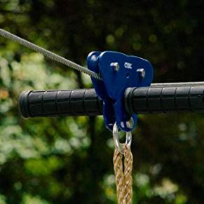 CTSC-95-Foot-Zip-Line-Kit-with-Stainless-Steel-Spring-Brake-and-Seat