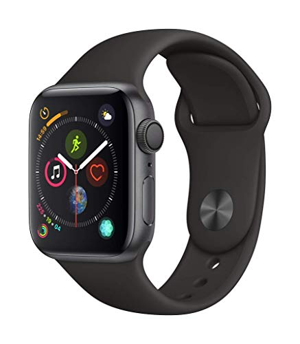 AppleWatch Series4 (GPS, 40mm) - Space Gray Aluminium Case with Black Sport Band