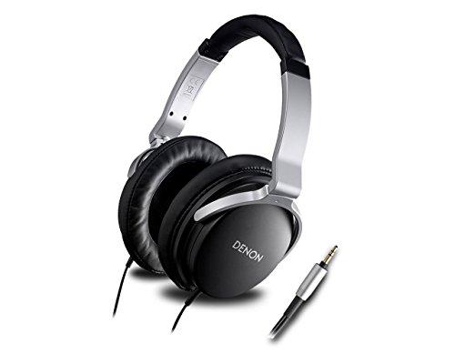 Denon AH-D1100 - Audífonos (Supraaural, Negro, Plata, 5 - 37000 Hz, Neodimio, Alámbrico)