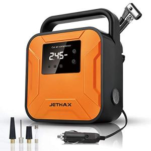 JETHAX Air Compressor Tire Inflator, 12V Portable Air Pump for Car Tires, Tire Pump with LED Light, Long Cable and Auto… 41b9mKXmahL