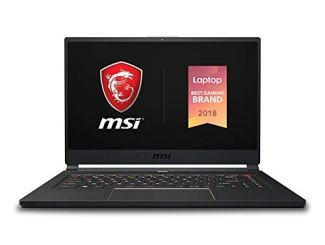 MSI GS65 Stealth-004 15.6' Razor Thin Bezel Gaming Laptop NVIDIA RTX 2070 8G Max-Q, 144Hz 7ms, Intel i7-8750H (6 cores), 16GB, 256GB NVMe SSD, TB3, Per Key RGB, Win10P, Matte Black w/ Gold Diamond cut