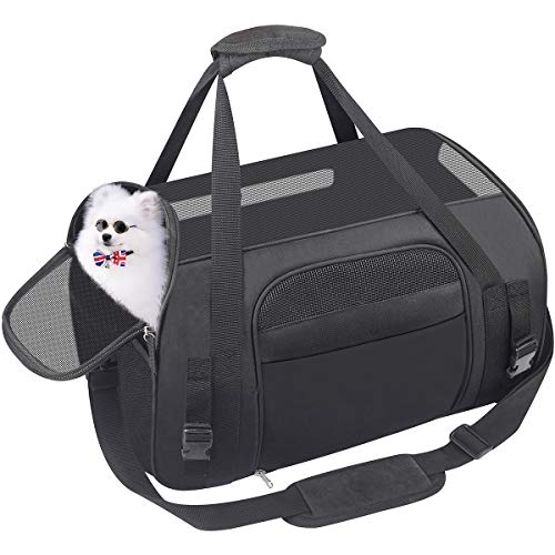 Pet Carrier Dog Airline Approved Soft-Sided Portable Travel Bag for Small Dogs Cats Puppies Kittens Rabbits 1