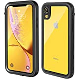 Clear iPhone xr case, Underwater 360 Full Sealed Cover, IP68 Certified, Military Grade Drop Tested, Waterproof, Snowproof, Shockproof and Dustproof with Built-in Screen Protector for iPhone Xr