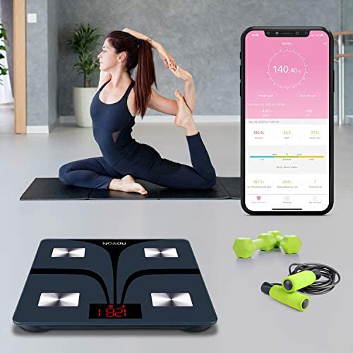 ABYON Bluetooth Smart Bathroom Scales for Body Weight Digital Body Fat Scale,Auto Monitor Body Weight,Fat,BMI,Water, BMR, Muscle Mass with Smartphone APP,Fitness Health Scale 2