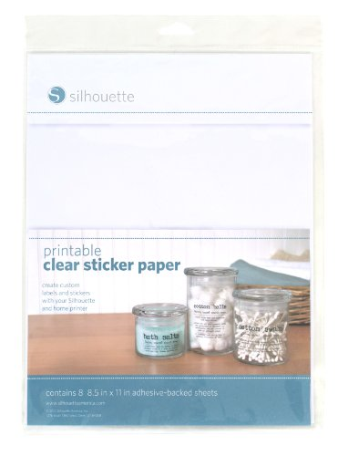 Silhouette Printable Clear Sticker Paper