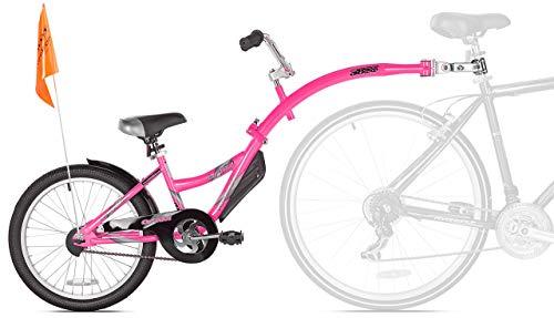 WeeRide Co-Pilot Bike Trailer, Pink (Renewed)