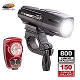 Cygolite Metro Plus 800 & Hotshot Pro 150 Bicycle Light Combo Set