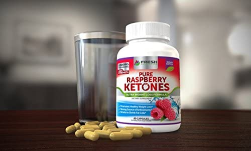 Pure 100% Raspberry Ketones Max 1000mg Per Serving - 3 Month Supply - Powerful Weight Loss Supplement - Provides Energy Boost for Weight Loss - 180 Capsules by Fresh Healthcare 3