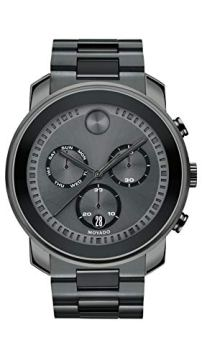 Movado Men's BOLD Large Metals Chronograph Watch with a Printed Index Dial, Grey (3600486)