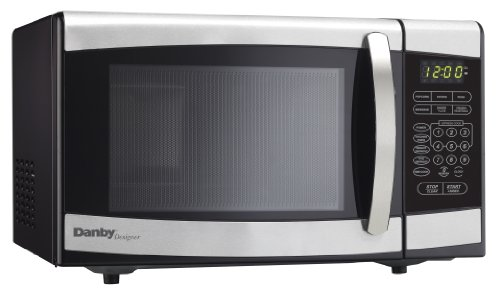 Danby Designer 0.7 cu.ft. Countertop Microwave, Black/Stainless Steel