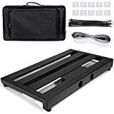 "Luvay Guitar Pedal Board - Extra Large (22"" x 12.6"") with Bag, 7LB Pedalboard"