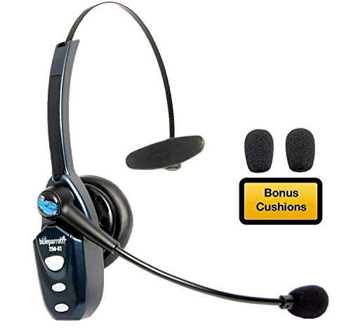 BlueParrott B250-XT Bluetooth Headset 204123 Bundle - Includes B250-XT Trucker Bluetooth Headset w/ Bonus Mic Foam Cushions | Auriculares Bluetooth Inalambricos de Blue Parrot