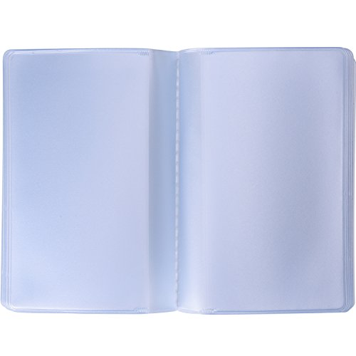 Shappy 2 Pieces Plastic Wallet Insert Credit Card Holder with 10 Page 20 Slots and 10 Page 10 Slots, Transparent