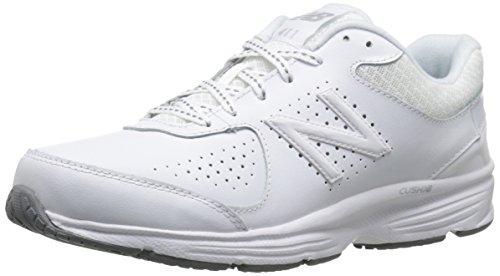 New Balance Women's WW411v2 Walking Shoe,  White, 7 W US