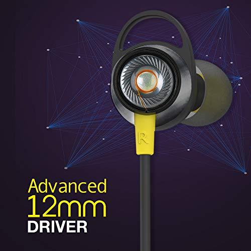 41bRSvYmniL Infinity (JBL) Glide 120, in Ear Wi-fi Earphones with Mic, Deep Bass, Twin Equalizer, 12mm Drivers, Premium Steel Earbuds, Snug Flex Neckband, Bluetooth 5.0, IPX5 Sweatproof (Black&Yellow)