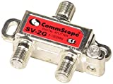 Set of 2-Way Digital Coaxial Splitter SV-2G, 5-1002 Mhz & 3-Pack 6 Feet Coaxial Cable