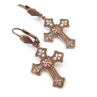 Womens-Cross Earrings