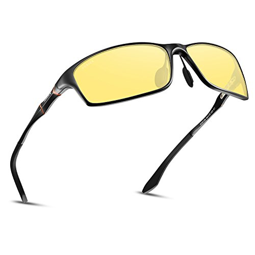 SOXICK Night Driving Glasses Polarized Anti Glare Night Vision Glasses for Driving HD Yellow Lens