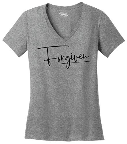 Comical-Shirt-Ladies-Forgiven-V-Neck-Tee