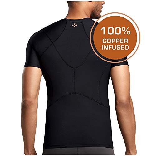 Tommie Copper - Men's Pro-Grade Short Sleeve Shoulder Support Shirt - Black - Large