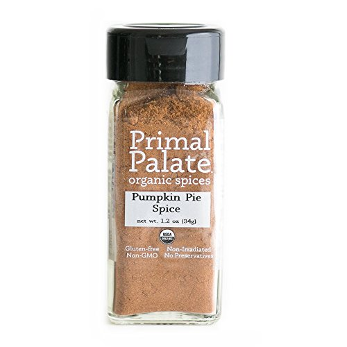 Primal Palate Organic Spices Pumpkin Pie Spice, Certified Organic, 1.2 oz Bottle