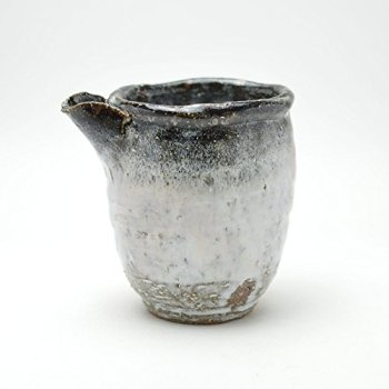 Japanese traditional ceramic Hagi ware.Shirohagi white lipped bowl made by Kiyoshi Yamato.