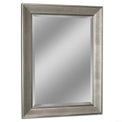 Headwest 8013 Pave Wall Mirror in Brush Nickel, 29″ x 35″