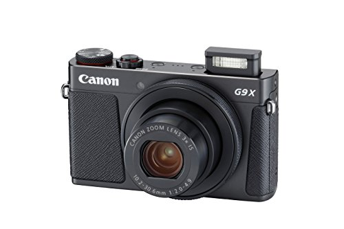 Canon PowerShot G9 X Mark II Compact Digital Camera w/ 1 Inch Sensor and 3inch LCD - Wi-Fi, NFC, Bluetooth Enabled (Black)