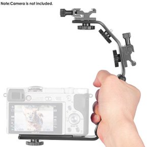 Neewer-Camera-Video-L-Shape-Flash-Bracket-with-Dual-Flash-Cold-Shoe-Mount-14-inches-Tripod-Screw-Versatile-Handheld-for-Camera-Camcorder-Video-Shooting-and-Product-Photography