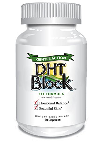 DHT Block - DHT Blocker Supplement for Skin, Acne, PCOS, Hair, and Hormonal Balance. Dim, Astragalus Root, Turmeric, Natural Ingredients. For Men and Women - 60 Vegan Capsules