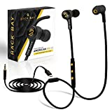Back Bay 2-in-1 Wireless & Wired Bluetooth Earbuds. Sweatproof Wireless Stereo Headphones with Microphone, 6 Earphone Tips, AUX Cable and Carrying Bag