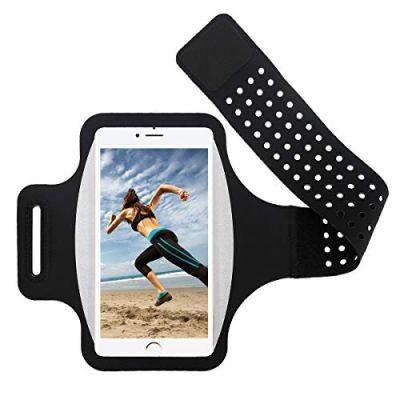 Fascia da Braccio Sportiva Running Porta Scheda per iPhone Xs/Xs Max/XR/8 Plus/7 Plus, Samsung S9/S8/S7/S6 Edge, Note 6/5, Huawei P20/Mate 10 con Resistente all'Acqua Comparto fino a 6.0 Pollici