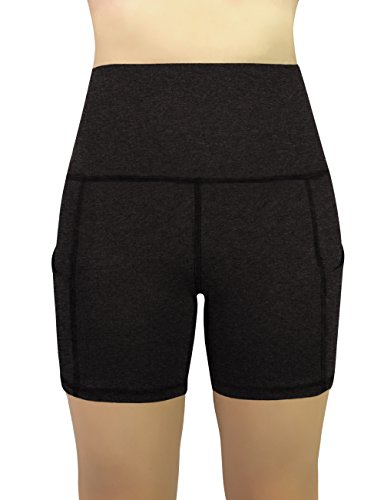REETOYO Women's High Waist Tummy Control Workout Running 4 Way Stretch Yoga Shorts Side Pockets 17 Fashion Online Shop gifts for her gifts for him womens full figure