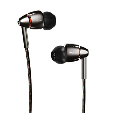 1MORE Quad Driver In Ear Headphones (Earphones, Earbuds) with Microphone (Titanium)