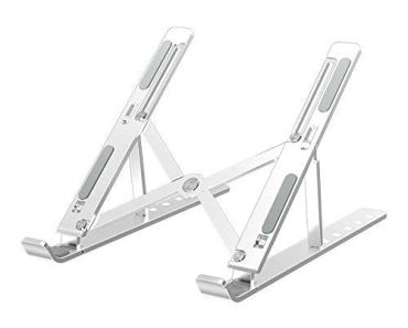Dyazo Laptop Stand/Laptop Holder Riser/Computer Tablet Stand 6 Angles Adjustable Aluminum Ergonomic Foldable Portable Desktop Holder Compatible with MacBook, HP, Dell, Lenovo & All Other Notebook
