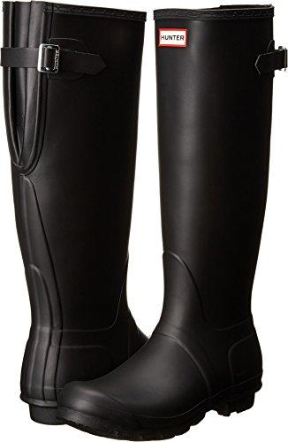 Hunter Women's Original Back Adjustable Rain Boots Black 9 M US