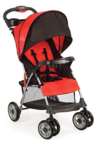 Kolcraft Cloud Plus Lightweight Compact Stroller, Fire Red